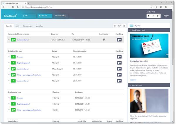 SmartLearn MyPage v17